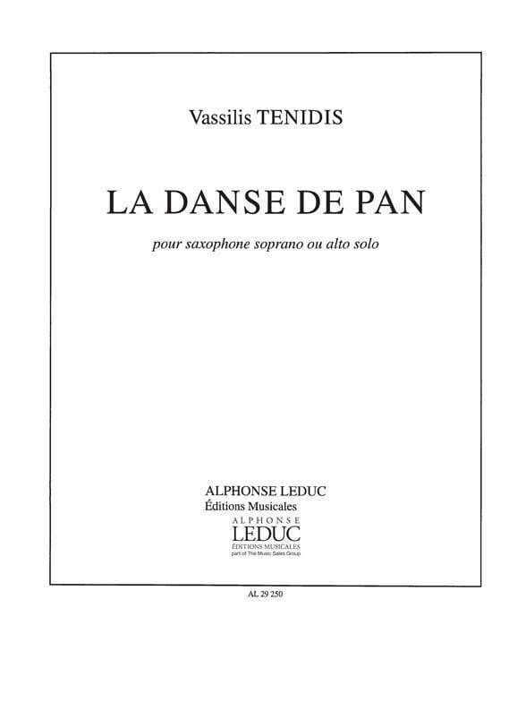 La Danse de Pan - Vassilis Tenidis - Partition - laflutedepan.com