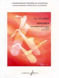 Asphodèle Yves Guicherd Partition Saxophone - laflutedepan