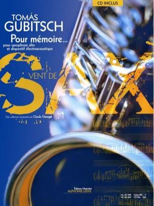 Pour Mémoire Thomas Gubitsch Partition Saxophone - laflutedepan