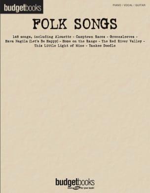 Budget books - Folk songs Partition Musique du monde - laflutedepan
