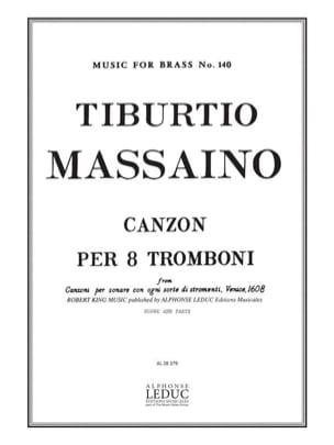 Canzon Per 8 Tromboni Score & Parts Tiburtio Massaino laflutedepan