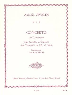 Concerto En la Mineur VIVALDI Partition Saxophone - laflutedepan