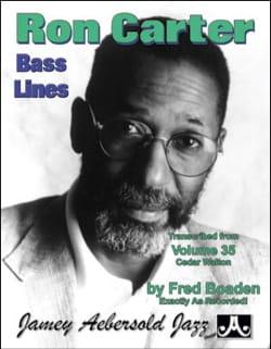 Ron Carter - Aebersold 35 - Bass Lines Transcribed from Aebersold 35 - Cedar Walton - Partition - di-arezzo.fr