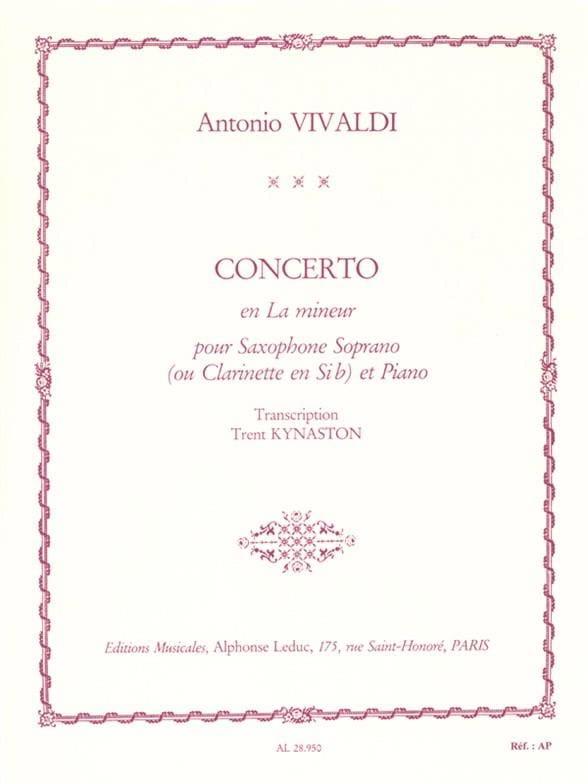 Concerto En la Mineur - VIVALDI - Partition - laflutedepan.com