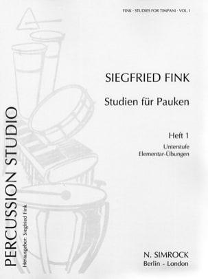 Studies For Timpani Volume 1. Elementary Siegfried Fink laflutedepan