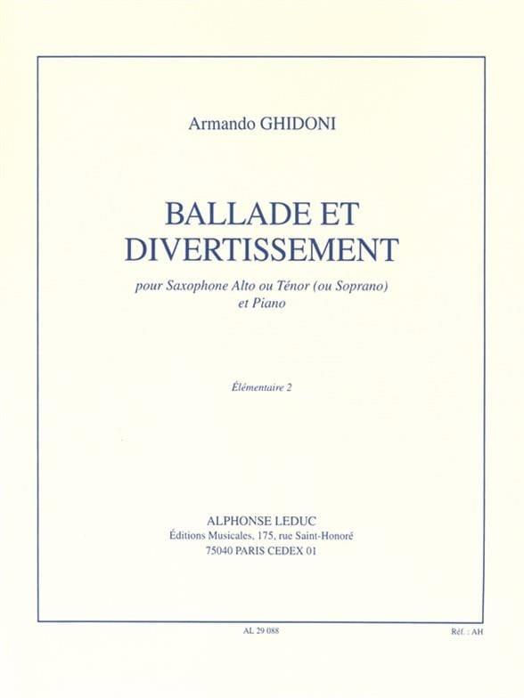 Ballade et Divertissement - Armando Ghidoni - laflutedepan.com