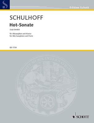 Hot-Sonate Erwin Schulhoff Partition Saxophone - laflutedepan