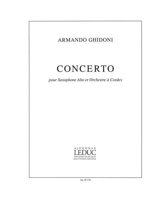 Concerto - Armando Ghidoni - Partition - Saxophone - laflutedepan.com