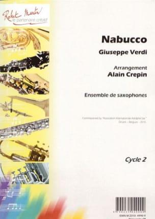 Nabucco VERDI Partition Saxophone - laflutedepan