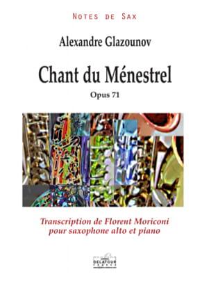 Chant du Ménestrel GLAZOUNOV Partition Saxophone - laflutedepan