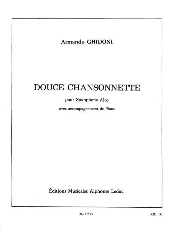 Douce Chansonnette - Armando Ghidoni - Partition - laflutedepan.com