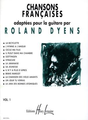 Chansons Françaises Volume 1 Roland Dyens Partition laflutedepan