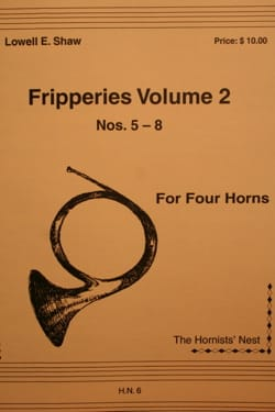 Fripperies Volume 2 N° 5-8 Lowell E. Shaw Partition Cor - laflutedepan