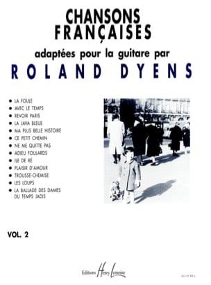 Chansons Françaises Volume 2 Roland Dyens Partition laflutedepan