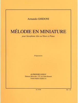 Mélodie En Miniature Armando Ghidoni Partition laflutedepan