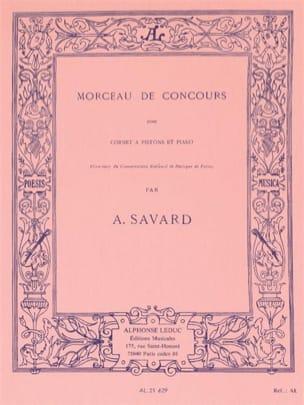 Morceau de Concours A. Savard Partition Trompette - laflutedepan