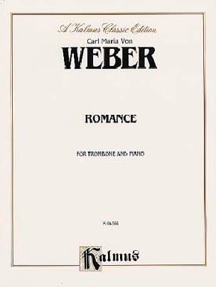 Romance Carl Maria Von Weber Partition Trombone - laflutedepan