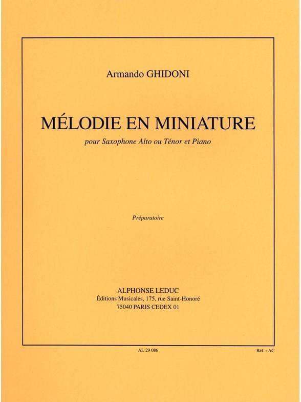 Mélodie En Miniature - Armando Ghidoni - Partition - laflutedepan.com
