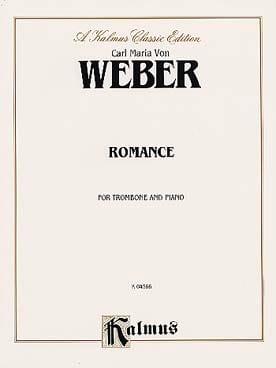 Romance - Carl Maria Von Weber - Partition - laflutedepan.com