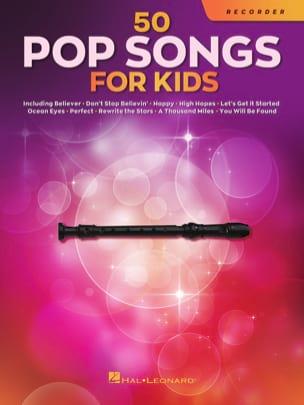 50 Pop Songs for Kids - Flute à Bec Partition laflutedepan