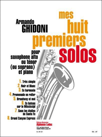 Mes Huit Premiers Solos - Armando Ghidoni - laflutedepan.com