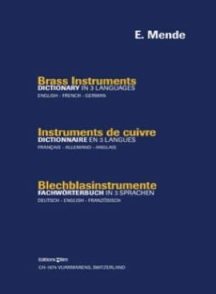 Instruments de Cuivres - Emily Mende - Livre - laflutedepan.com