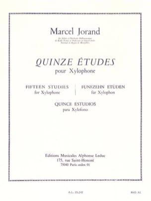 15 Etudes Marcel Jorand Partition Xylophone - laflutedepan
