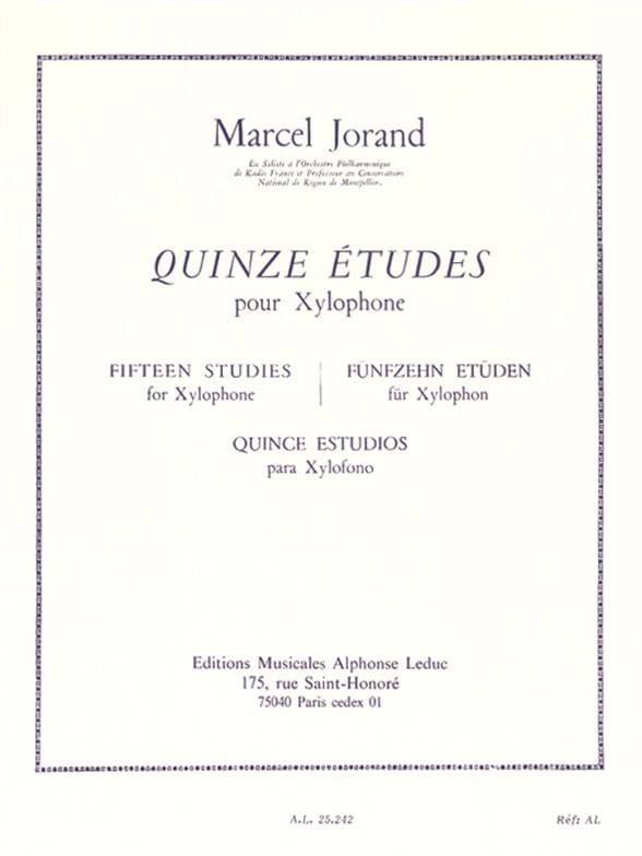 15 Etudes - Marcel Jorand - Partition - Xylophone - laflutedepan.com