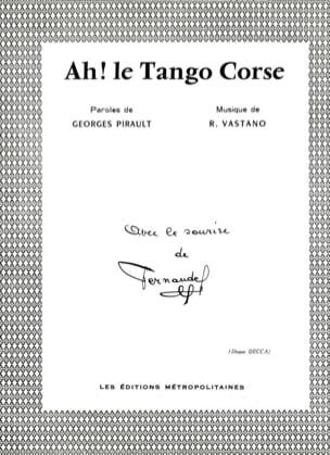 Ah! le Tango Corse - Fernandel - Partition - laflutedepan.com