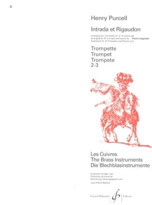 Intrada Et Rigaudon PURCELL Partition Trompette - laflutedepan