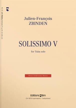 Solissimo V Julien-François Zbinden Partition Tuba - laflutedepan