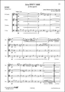 Aria - BWV 1068 - BACH - Partition - laflutedepan.com