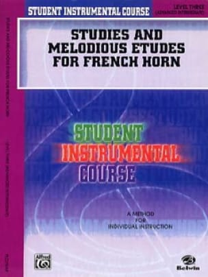 Studies & melodious etudes for french horn volume 3 - laflutedepan.com
