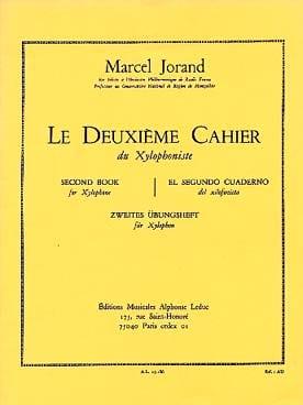 Deuxième cahier du Xylophoniste Jorand Partition laflutedepan