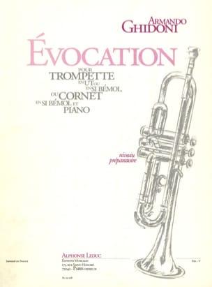 Evocation Armando Ghidoni Partition Trompette - laflutedepan