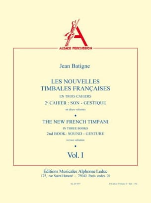 Nouvelles Timbales Francaises Volume 1 Jean Batigne laflutedepan