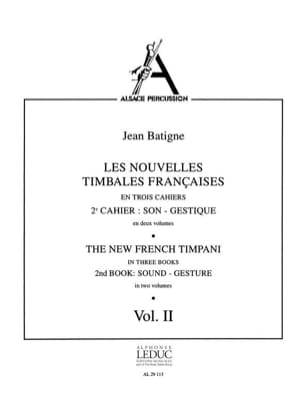 Nouvelles Timbales Francaises Volume 2 Jean Batigne laflutedepan