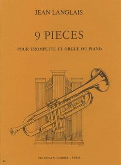 9 Pièces Jean Langlais Partition Trompette - laflutedepan
