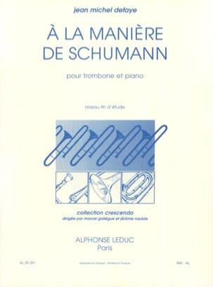 A la Manière de Schumann Jean-Michel Defaye Partition laflutedepan