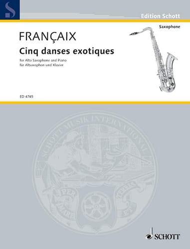 Cinq Danses Exotiques - FRANÇAIX - Partition - laflutedepan.com
