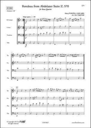Rondeau extrait de la Suite Abdlazer Z. 570 - laflutedepan.com