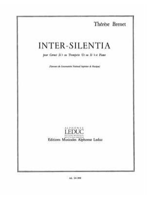 Inter-Silentia Thérèse Brenet Partition Trompette - laflutedepan