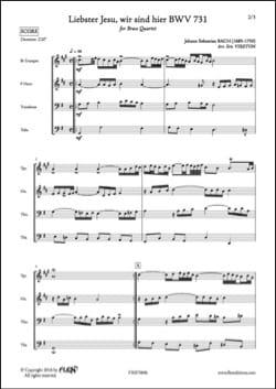Liebster Jesu, wir sind hier BWV 731 BACH Partition laflutedepan
