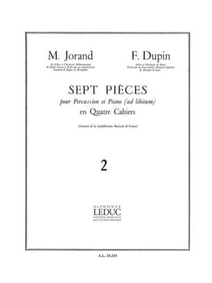7 Pièces Volume 2 - Jorand M. / Dupin F. - laflutedepan.com