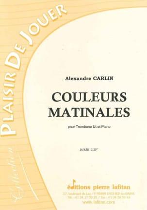 Couleurs matinales Alexandre Carlin Partition Trombone - laflutedepan
