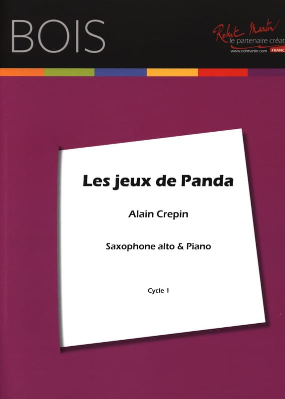 Les jeux de panda - Alain Crepin - Partition - laflutedepan.com