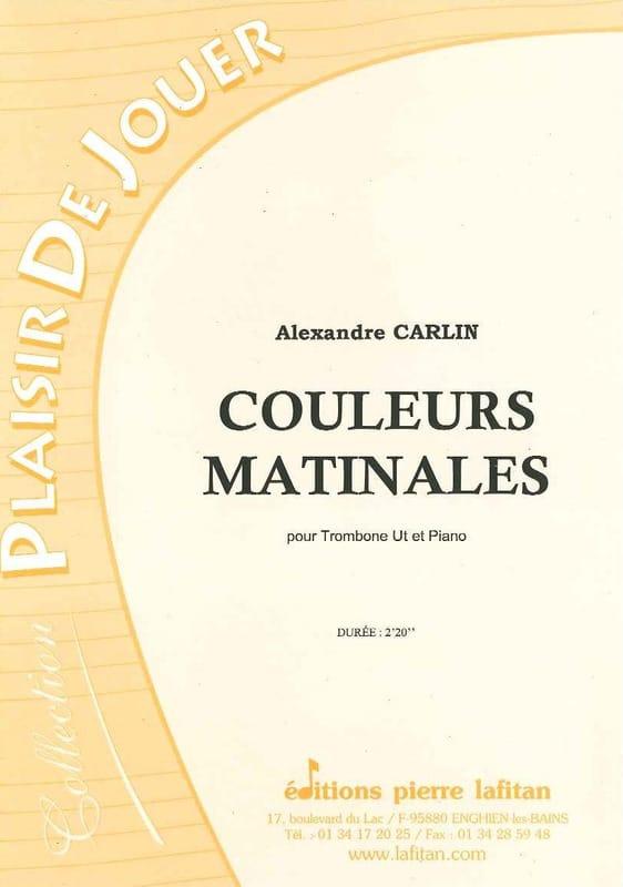 Couleurs matinales - Alexandre Carlin - Partition - laflutedepan.com