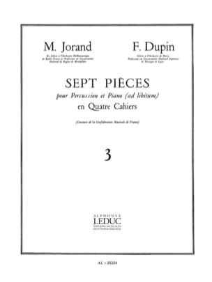 7 Pièces Volume 3 Jorand M. / Dupin F. Partition laflutedepan