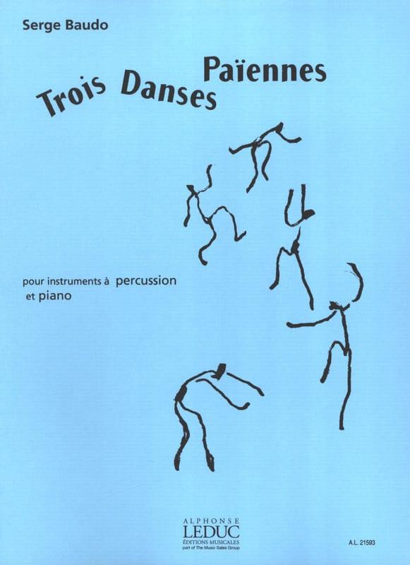 3 Danses Païennes - Serge Baudo - Partition - laflutedepan.com