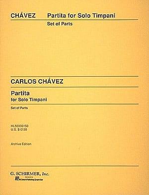 Partita For Solo Timpani - Carlos Chavez - laflutedepan.com